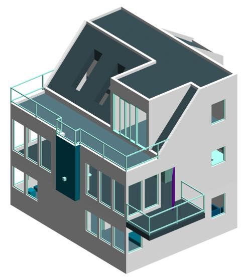 Isometric house drawings House plan drawing 3d