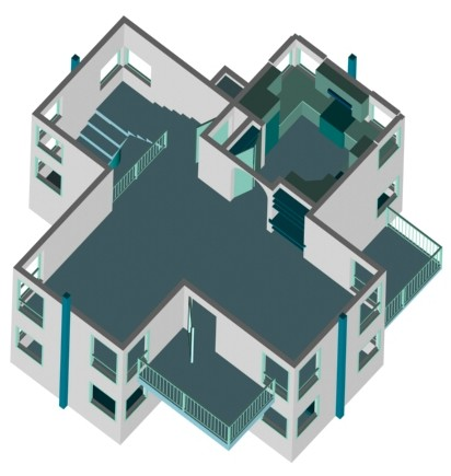 Turret2ndopen07med Modern Home Plans On Secure Small House Plans